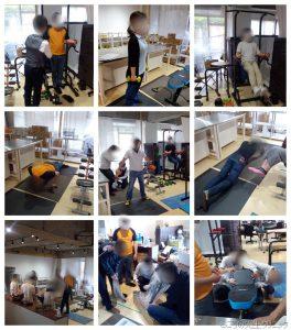 運動器具の製作と筋トレ