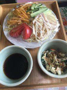 <食育活動>冷やし中華