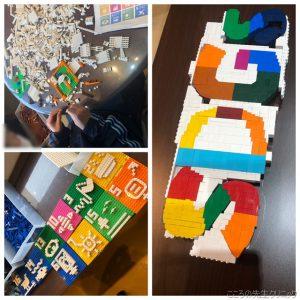 1人作業の「SDGs」ロゴ作り