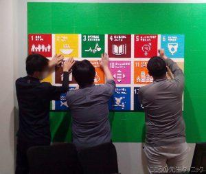 リワーク「SDGs」のロゴ作り